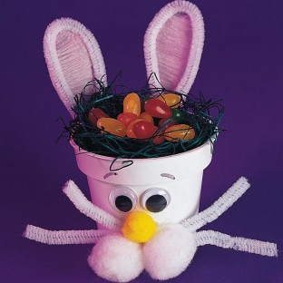 FLOWER POT BUNNY HOLDER PK/24