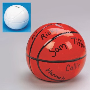 CERAMIC BASKETBALL BANK PK/12