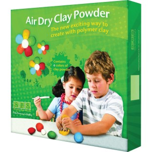 AIR DRY CLAY POWDER 3 LB 6 ASST. COLORS