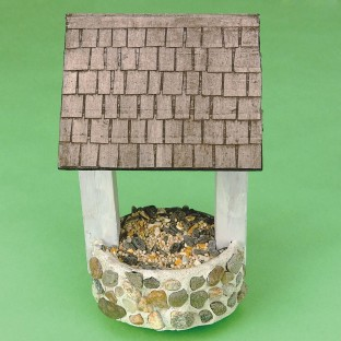 WISHING WELL BIRD FEEDER PK/12