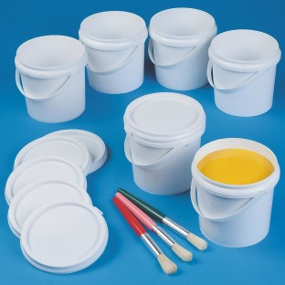 PAINT CONTAINERS W/LIDS PK/6