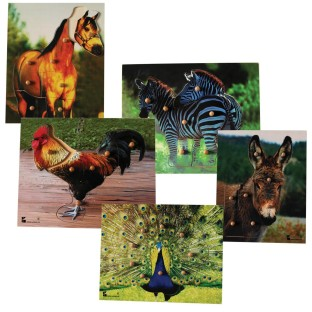 KNOBBED ANIMAL PUZZLES SET OF 5