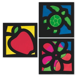 STAINED GLASS FRAMES KIT PK 12