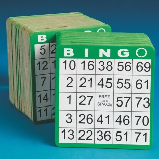BINGO CARDS HEAVY WGT PK50