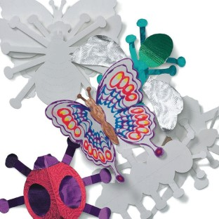 COLOR ME PAPER PRECUT FOLD UP BUGS 24PK