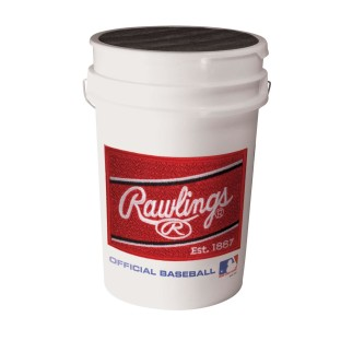 RAWLINGS BALL BUCKET W/36 BALLS