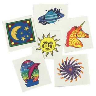 COSMIC GLITTER TATTOOS PK144