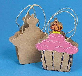 PAPER BAG CUPCAKE SHAPE PK/12