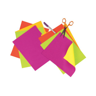 "Construction Paper 9""x12"" Assorted Neon Colors (Pack of 20)"