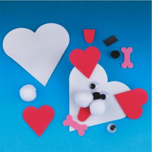 HEART DOG MAGNET PK/12