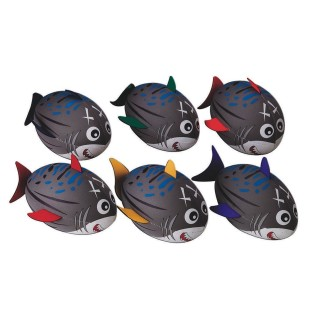 SPECTRUM SHARK FOOTBALLS SET OF 6