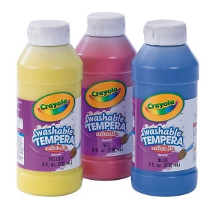 CRAYOLA ARTISTA  WSHBL TEMPERA 3CT SET 8 OZ EA