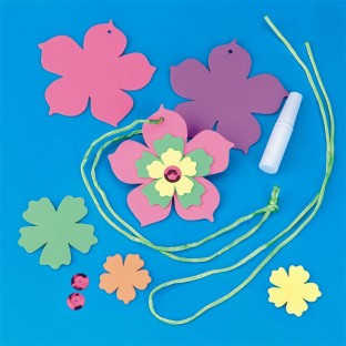 FOAM FLOWER NECKLACE PK/24