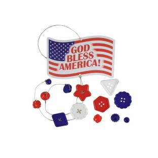 GOD BLESS AMERICA DOOR CHARM PK/12