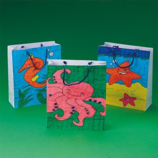 SEALIFE COLORING BAGS PK/12