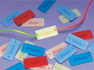 PLASTIC WORD CHARMS PK/36