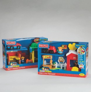 LITTLE PEOPLE BUILDING SETS ASSORTED 2/PK