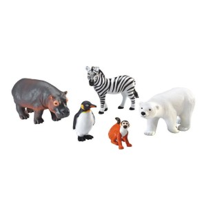 JUMBO ZOO ANIMALS SET