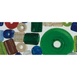 LARGE GLASS BEAD ASSORTMENT 8 OZ
