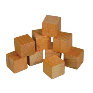 WOODEN CUBES 3/4 INCH SET 100