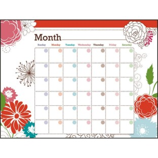 GOWRITE DRY ERASE CALENDAR BUNCH OF BLOOMS