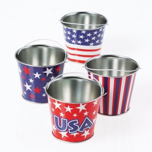 MINI PATRIOTIC BUCKETS PK12