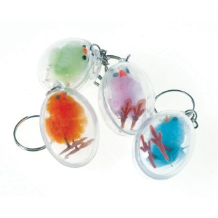 MINI CHICK IN EGG KEYCHAIN PK12