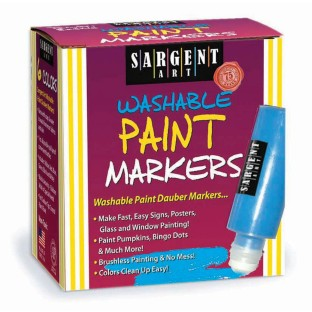 SARGENT WASHABLE PAINT MARKERS PK/6