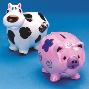 CERAMIC COW BANK PK/12