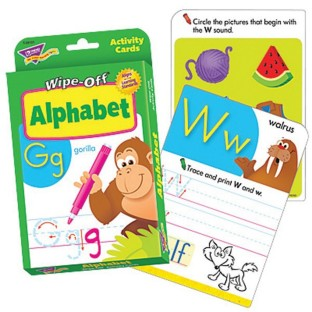 WIPE OFF ALPHABET ACTIVITY CARDS