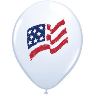PATRIOTIC FLAG AND STAR 11IN BALLOON BAG100