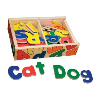 MAGNETIC WOODEN ALPHABET IN A BOX