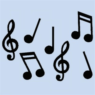 MUSICAL NOTES CUTOUTS PK18