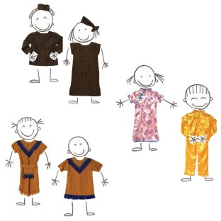 MULTICULTURAL COSTUMES SET OF 6