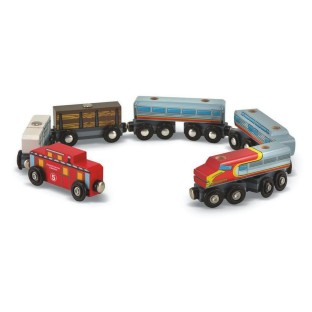 EIGHT PIECE WOODEN TRAIN SET