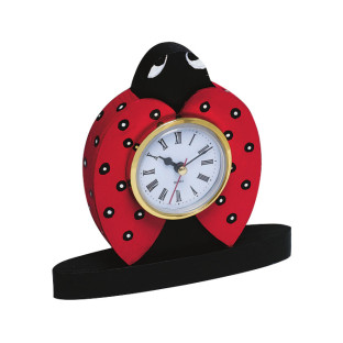 Unfinished Wood Ladybug Clock