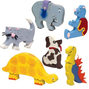 ASSORTED WOOD PUZZLES PK/6