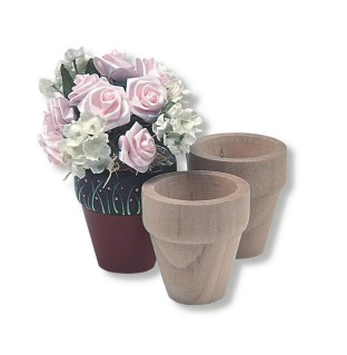 Unfinished Mini Wooden Flower Pot
