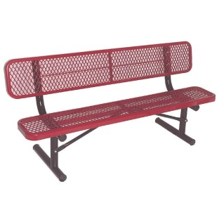 Portable Steel Park Bench with Back