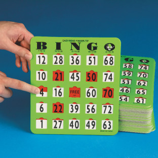 Oversized EZ Read Slide Bingo Card