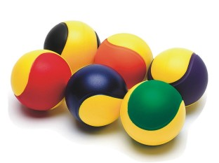Two-Color Foam Balls, 3-1/2