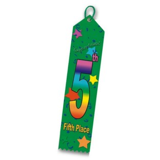 5th Place Multicolor Ribbon Pack of 25