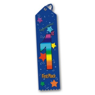Multicolored Award Ribbon - 1st Place