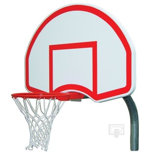 Gared® Steel Backboard, Goal and Bent Post 4-1/2