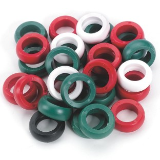 Plastic Game Rings 29-ct