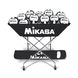 MIKASA VOLLEYBALL BALL CART BLACK