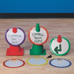 CONE BIB SPOT MARKERS SET OF 6