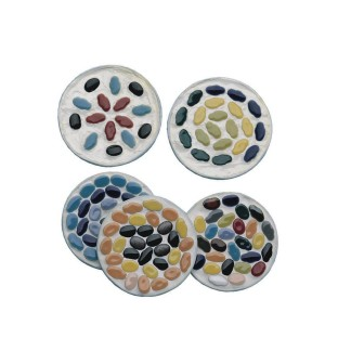 Ceramic Tile Metal Coasters Kit