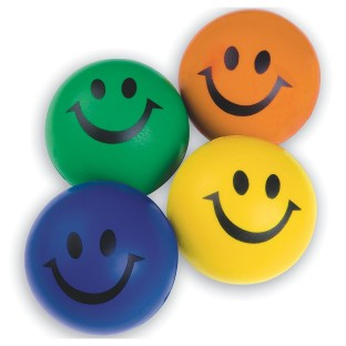 Smiley Face Squeeze Balls, Assorted Colors