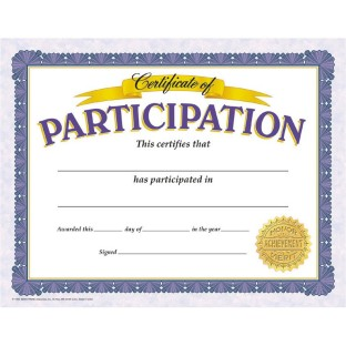 Participation Award Pack
